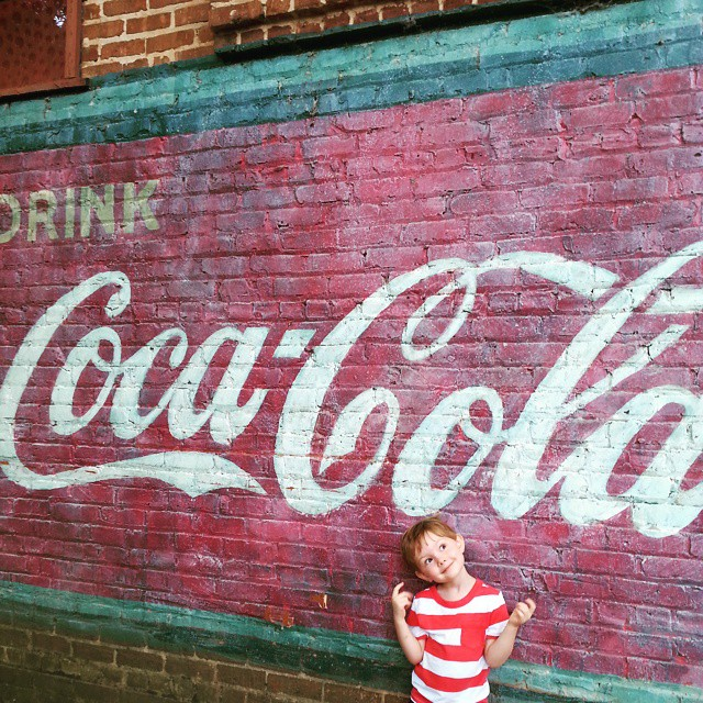Vintage Coca-Cola Ad on Grocery Store