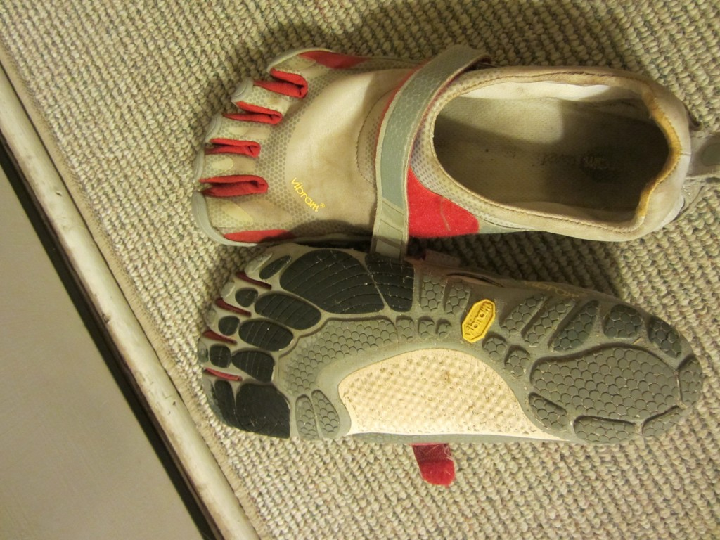 Vibram Fivefingers Bikila Sports Shoes On Carpet