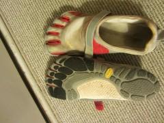 Vibram Fivefingers Bikila Sports Shoes On Carpet