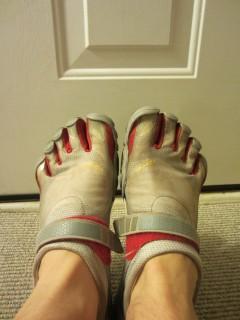 Vibram Fivefingers Bikila Sports Shoes On Feet