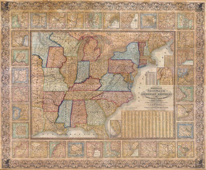 Map of USA in 1844