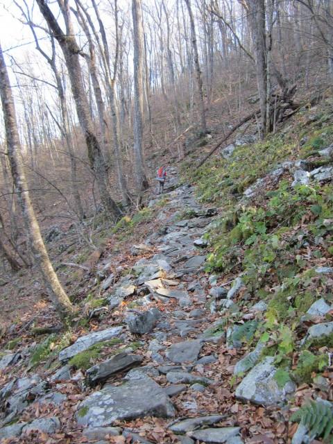 Applachian Trail Climbing Blue Mountain