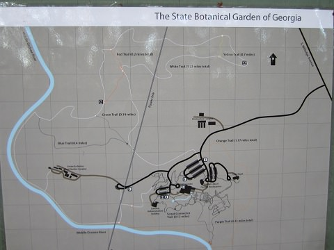Photo of a Map Of Georgia Botanical Gardens Running Trails