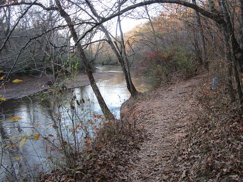 Orange Trail Along The Middle Oconee River