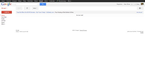 Gmail after simplifying