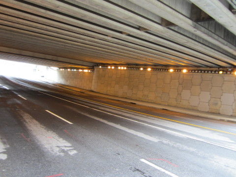 Underneath The Downtown Connector at Irwin St.