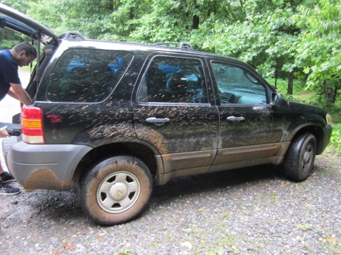 Ford Escape on Springer Mountain