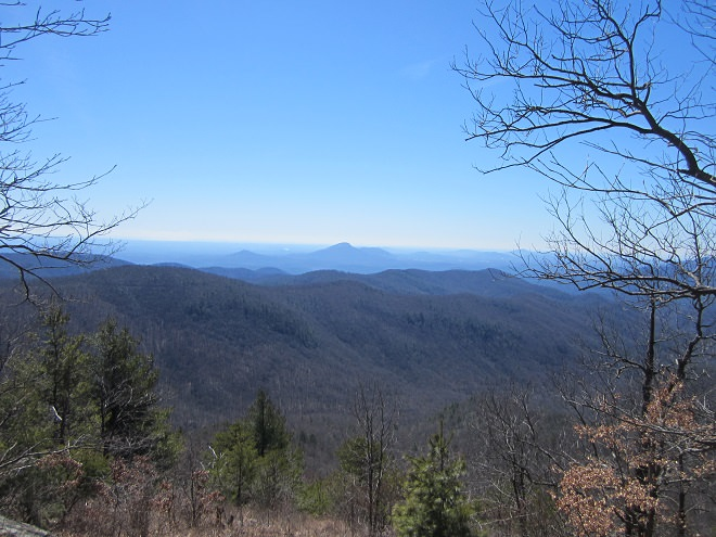 View of North Georgia Mountains from Rocky Mountain