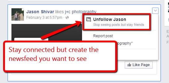 Unfollow Facebook