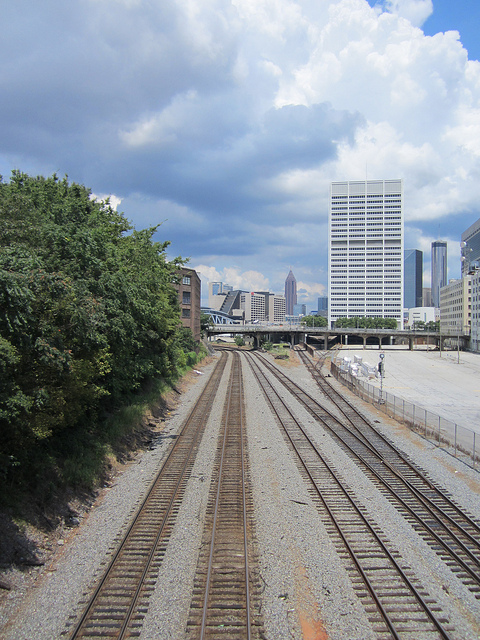 Railroad Tracks approaching The Gulch Downtown Atlanta