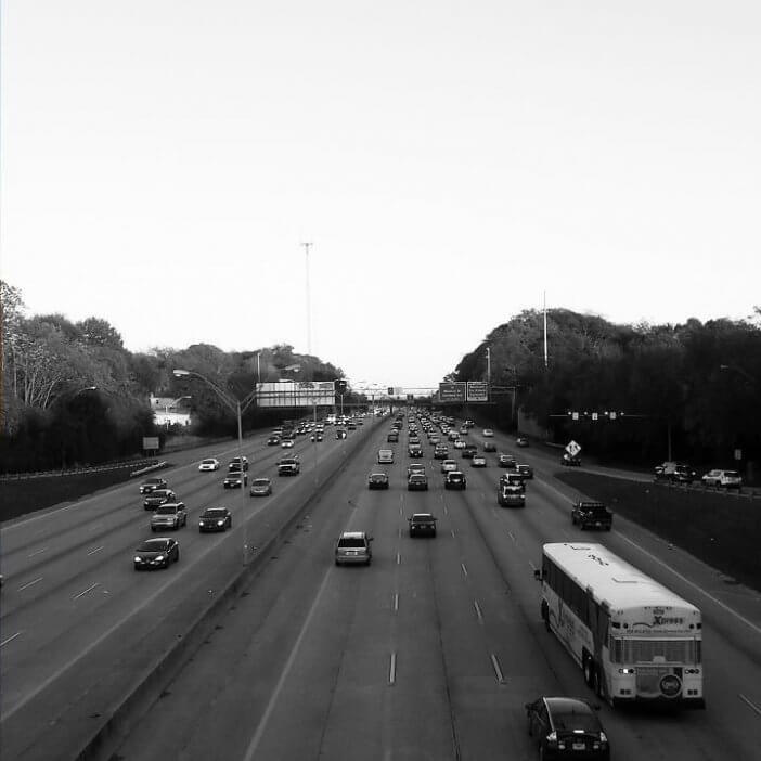 Commuters On Interstate 20 in Atlanta