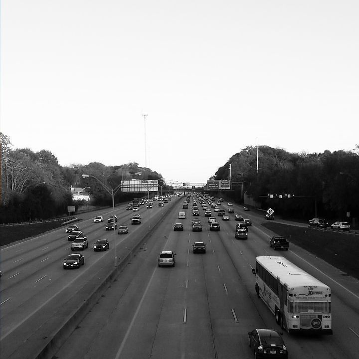 Atlanta Commuters Slowing Down On Eastbound I-20