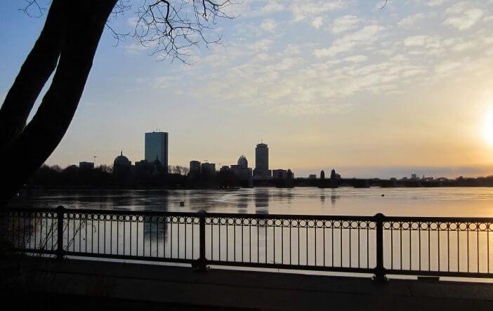 Sunset over Charles River