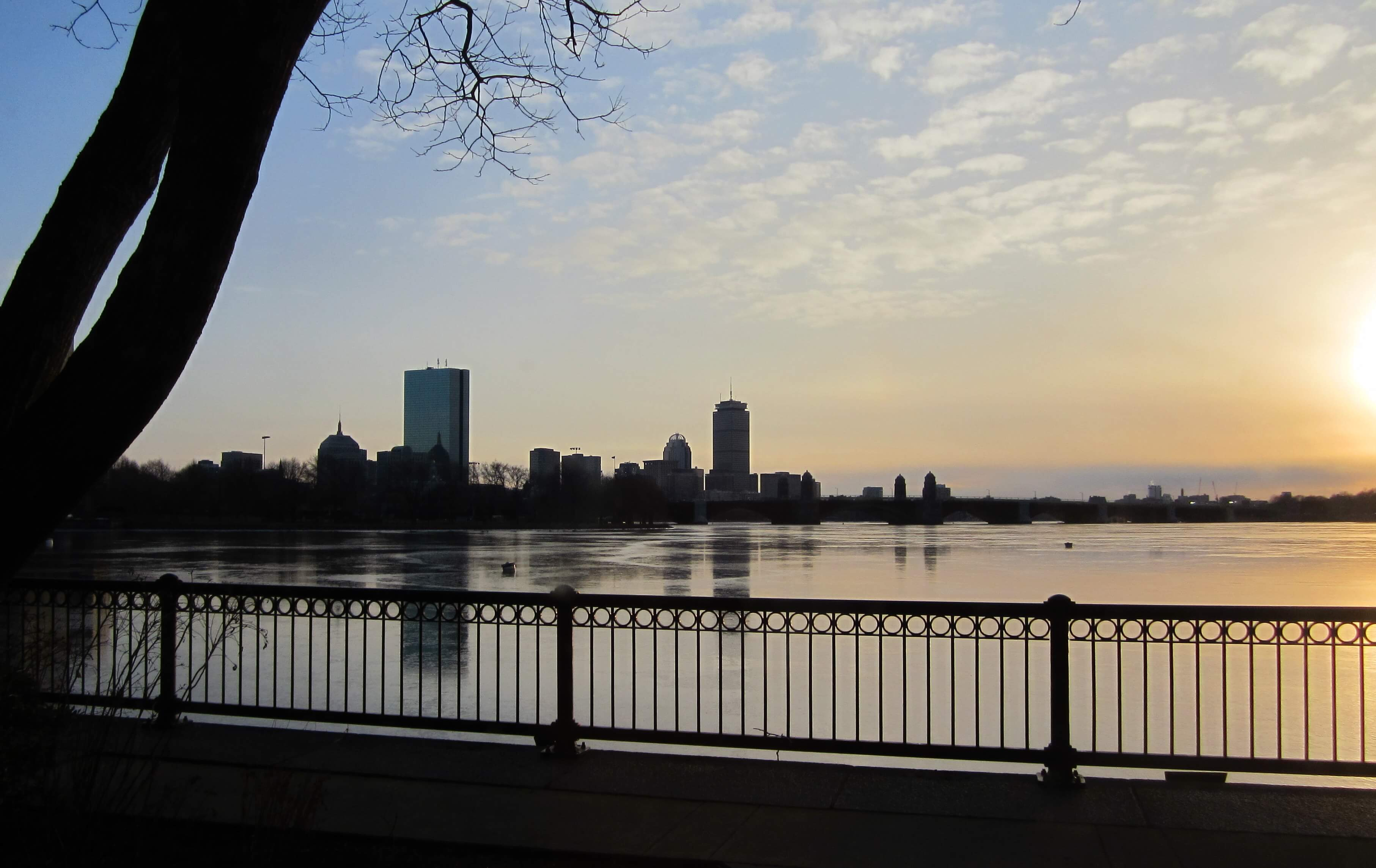 Sunset over Charles River