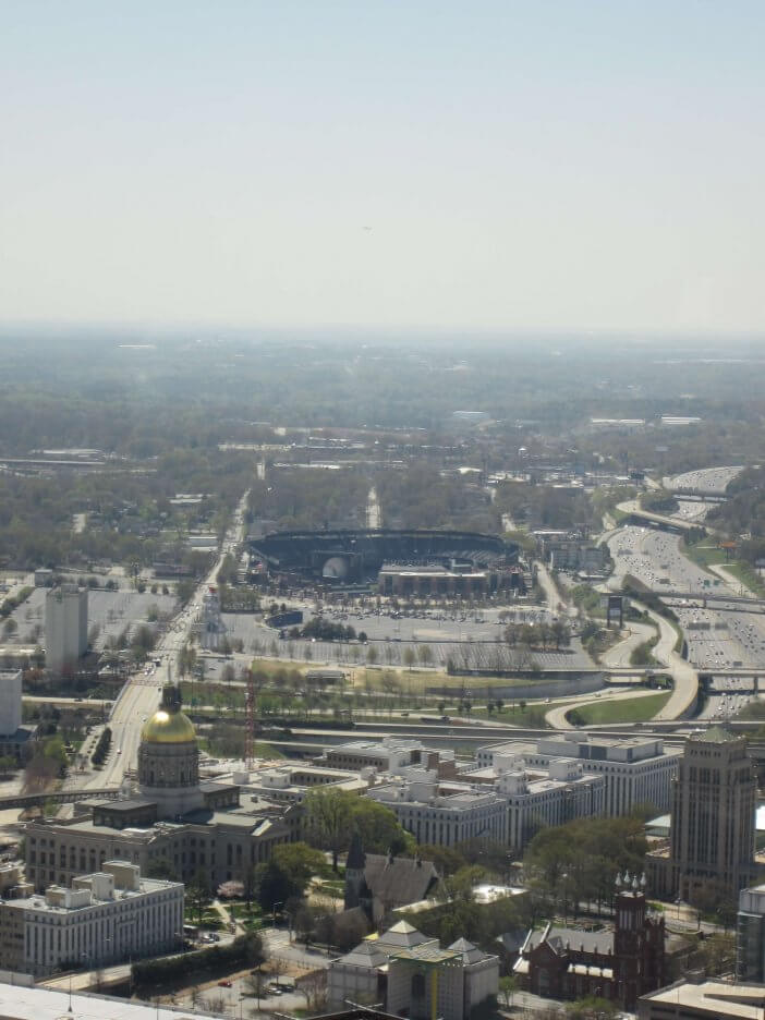 Turner Field from Capitol 1