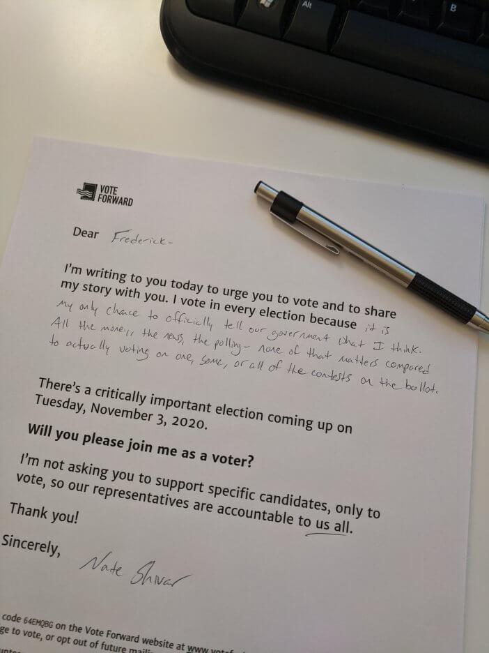 Vote Forward Letter